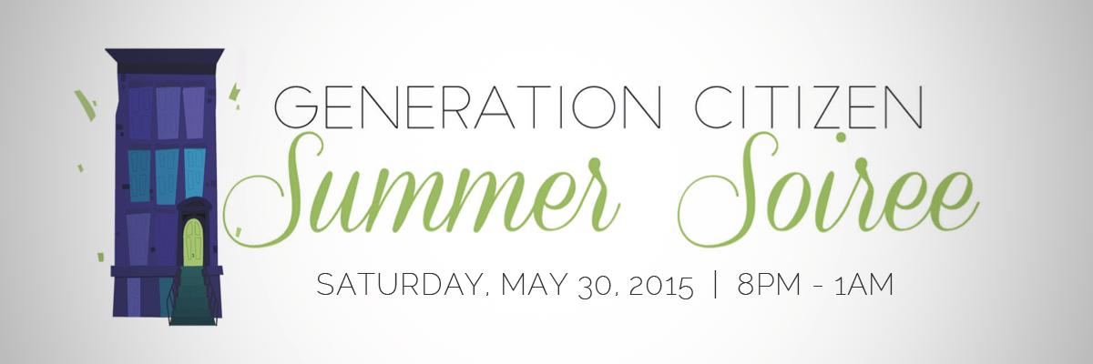 Generation Citizen Summer Soiree