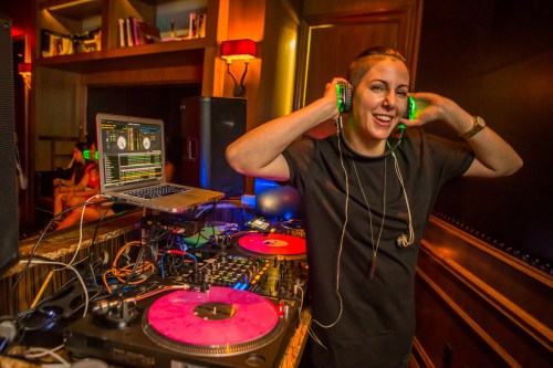 DJ Lisa Pittman at the Library. Photo courtesy of Marquee Nightclub.