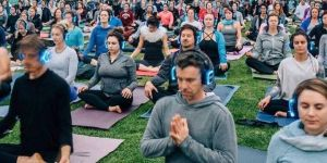 Sunset Silent Disco Yoga