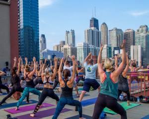 Skyline Silent Disco Yoga