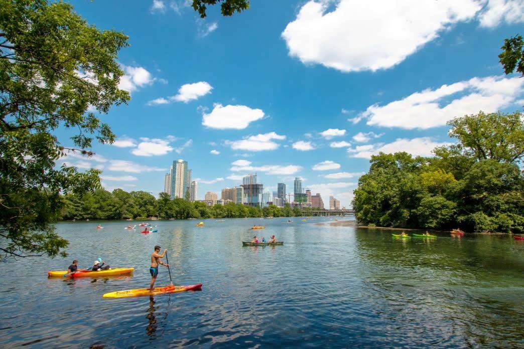MindTravel SilentPaddle in Austin on Ladybird Lake