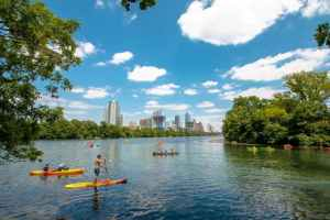 MindTravel SilentPaddle in Austin on Ladybird Lake