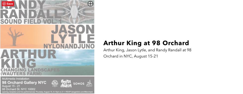 Arthur King at 98 Orchard