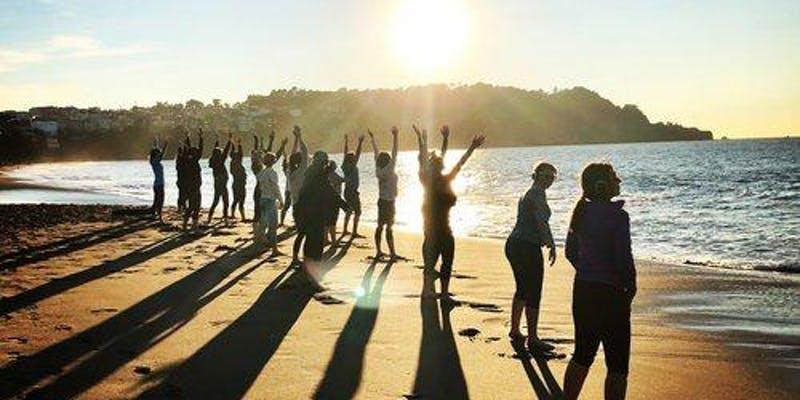 FULL MOON Sunset Beach Yoga with Julianne!