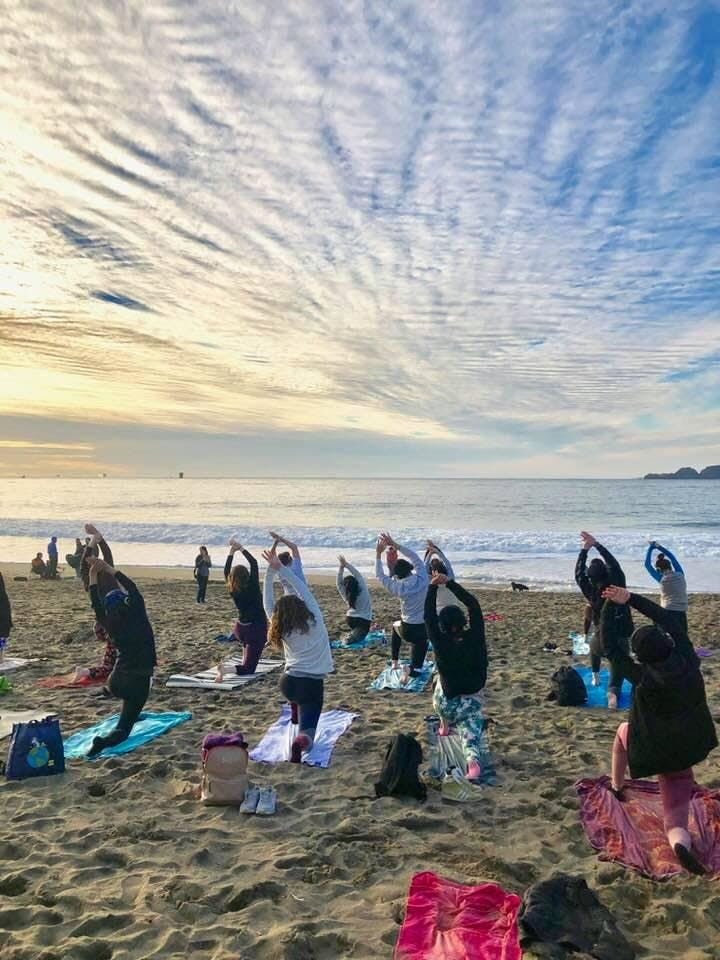A mid-week reset for mind, body and spirit. Come out here for a powerful hour of yoga, soak up the peaceful vibes, feel soothed by the Ocean's waves, and watch the sun set over the Pacific.