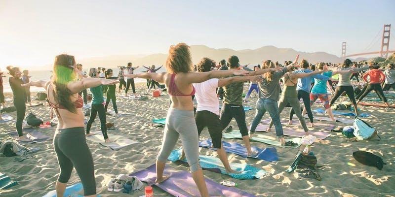 Sunday Zen Beach Yoga with Kelly Becerra!