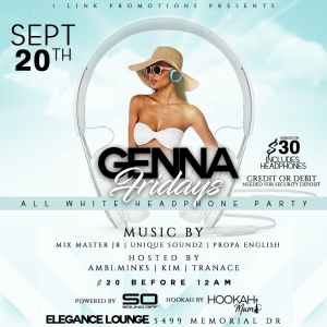 Sound Genna Friday's All White Headphone Party