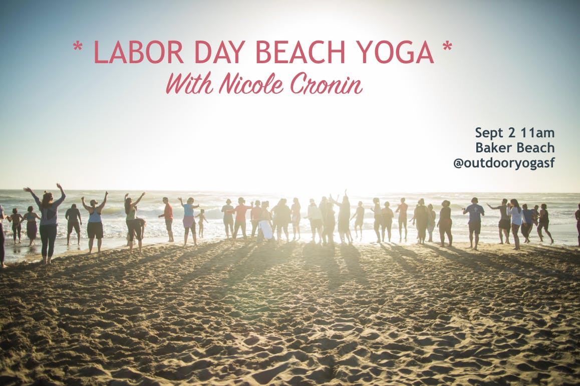 COLUMBUS DAY! Beach yoga with Julie!