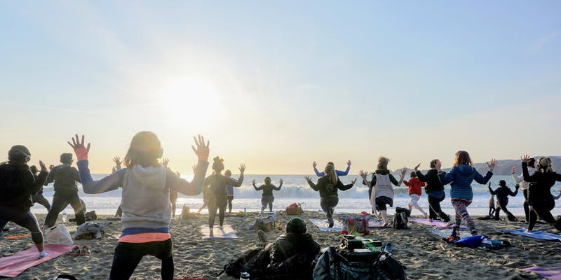 Saturday Groove: Beach Yoga with Peter Walters!