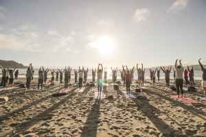 Sunset Beach Yoga with Julianne!