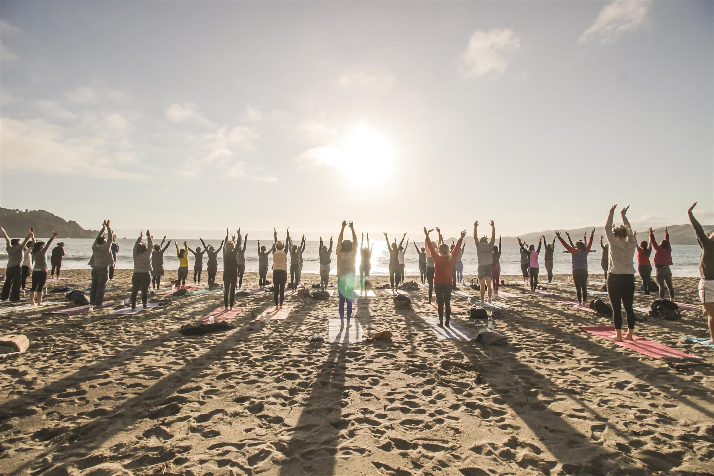 Sunset Beach Yoga with Kirin