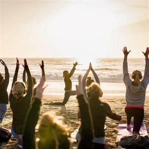 Sunset Beach Yoga with Kirin!