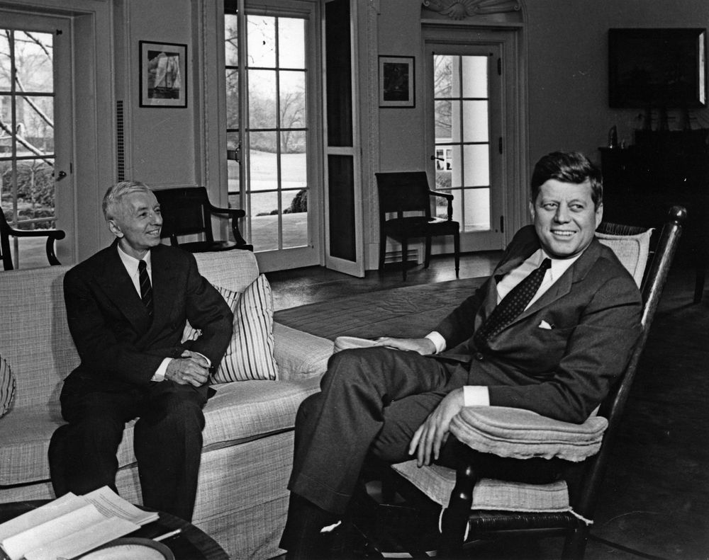 President Kennedy and Rickover, White House, 1963