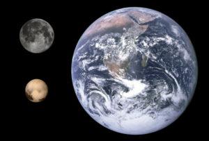Pluto Earth, Moon