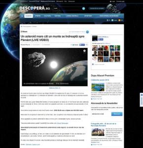 descopera asteroid