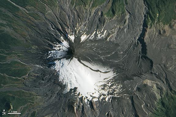 Vulcanul dupa eruptie.