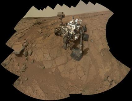 Auto-portret al roverului Curiosity