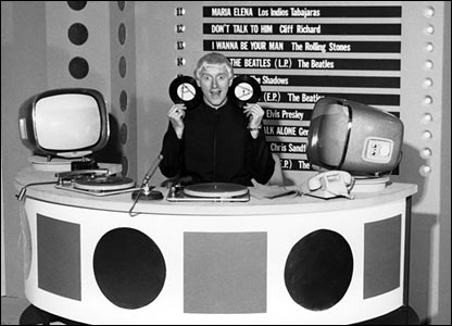 Jimmy Savile on the first Top of the Pops in 1964