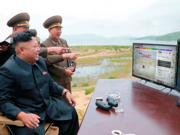 Kim Jong Un enjoying Off The Chart as usual
