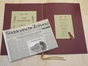 A German newspaper, yesterday