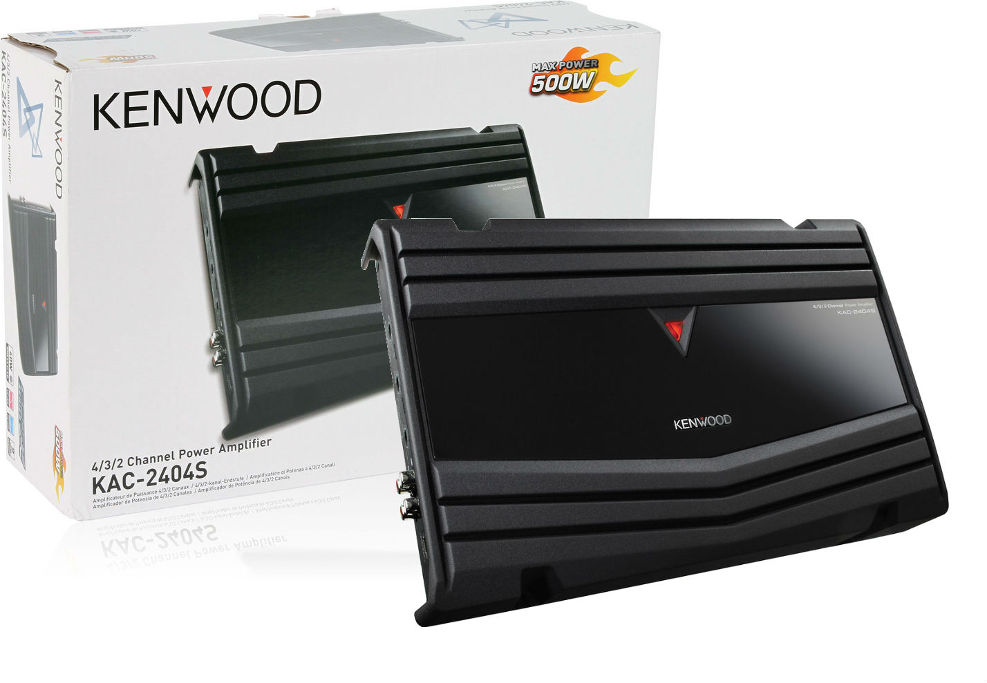 Kenwood KAC-2404S 4 Ch Amplifier New KAC2404S W/ 4Ga