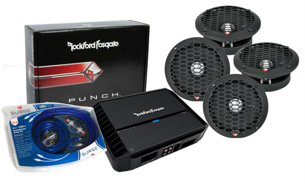 Rockford Fosgate P400x2 2 Ch Amplifier 4 PPS8-6 6.5