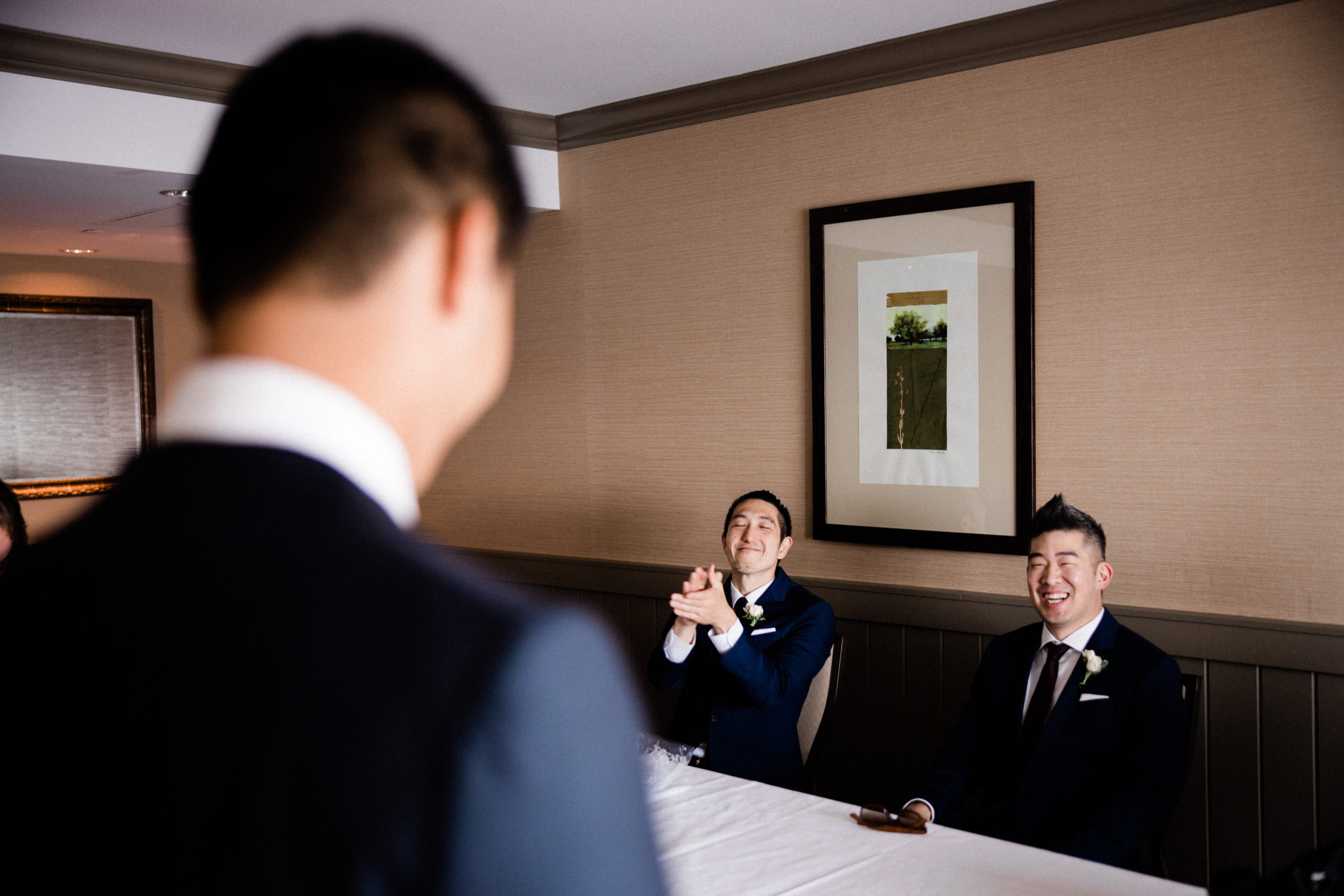 Bridal party reading love letters for wedding videography