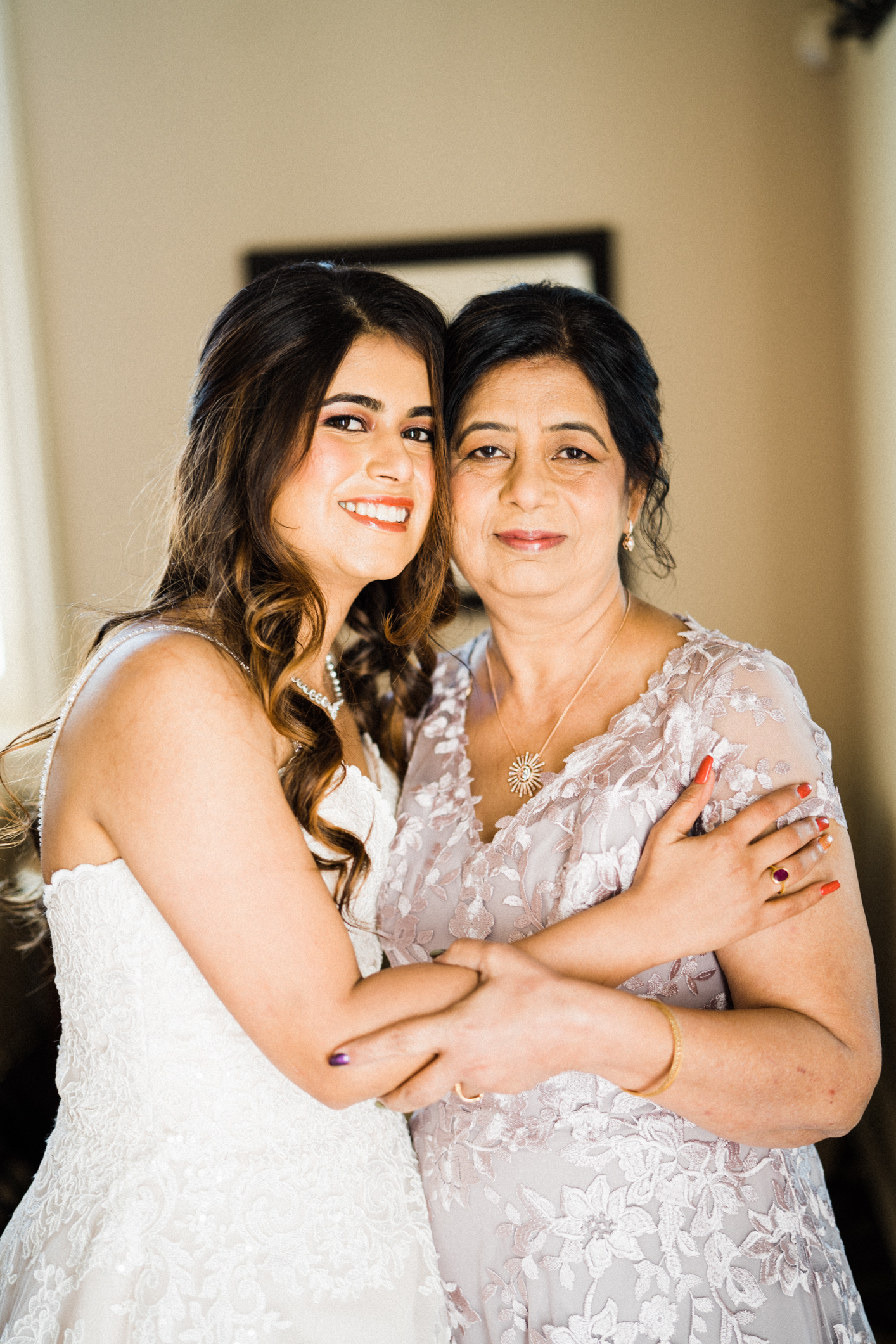 bride and her mother before tying the knot