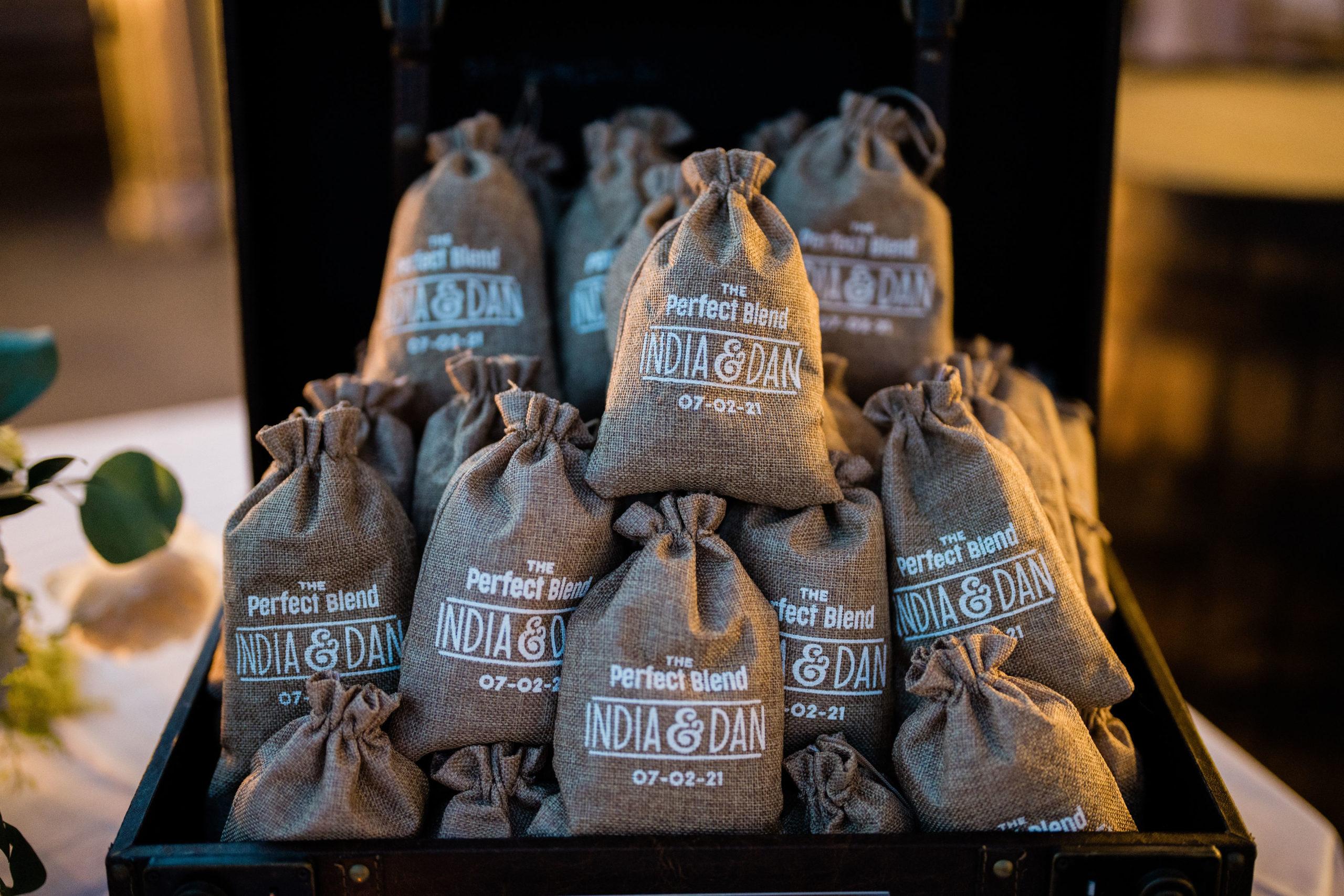 coffee as wedding favors
