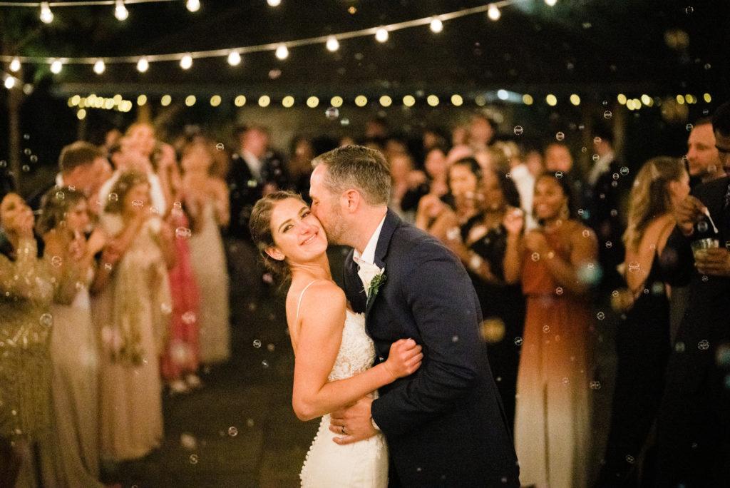 sparkler exit at Roche Harbor Resort wedding
