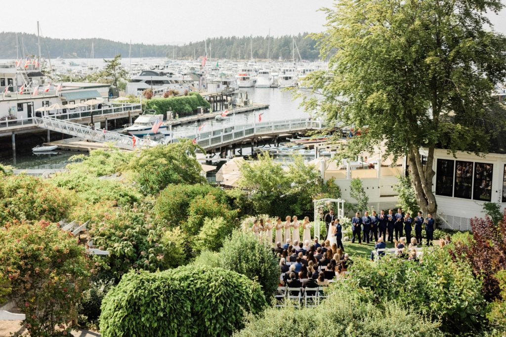 Roche Harbor Resort wedding on garden lawn