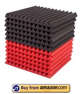Foamily 12 Pack- Red/Charcoal Acoustic Panels