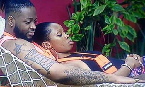#BBNaija: Teddy-A Exposes Private Part While He Was With Bambam (See Photo)
