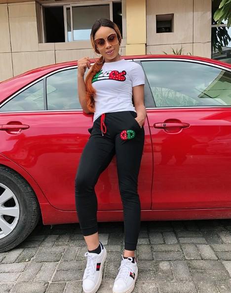 BBNaija's Nina Strikes A Pose With Her New Car