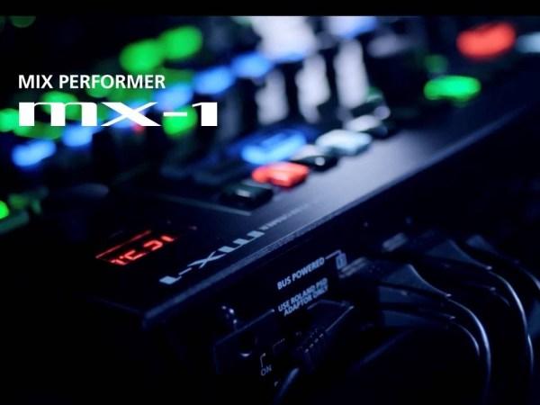 AIRAから多彩な入出力に対応した「演奏」できるデジタル・ミキサー「MX-1」が発表