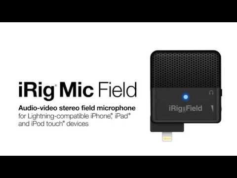 Lightning端子を搭載したiOS端末に直接接続できるステレオ・マイク iRig Mic Field が発売
