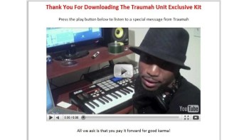 A free hip hop drum kit from TrauhmahDrums.com
