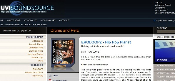 BPM Hip Hop Planet expansion from UVIsoundsource