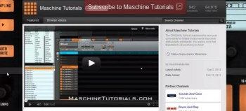 Subscribe to my Maschine Tutorial and Drum Sample YouTube channels