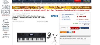 Casio WK6500 76 Key Workstation Keyboard Package review