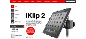IK Multimedia iKlip 2 iPad mic stand adapter review