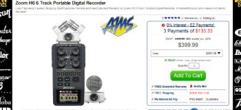 Zoom H6 portable recorder review