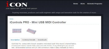 Icon Digital iControls PRO Motorized Fader DAW Controller review