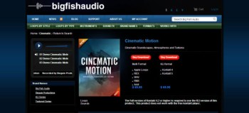 Big Fish Audio Cinematic Motion library review