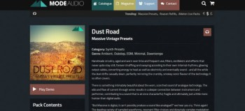 Mode Audio Dust Road MASSIVE Analog Synth Presets review