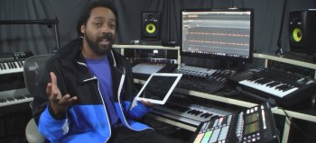 Making a beat with Maschine Studio using iPad Sounds