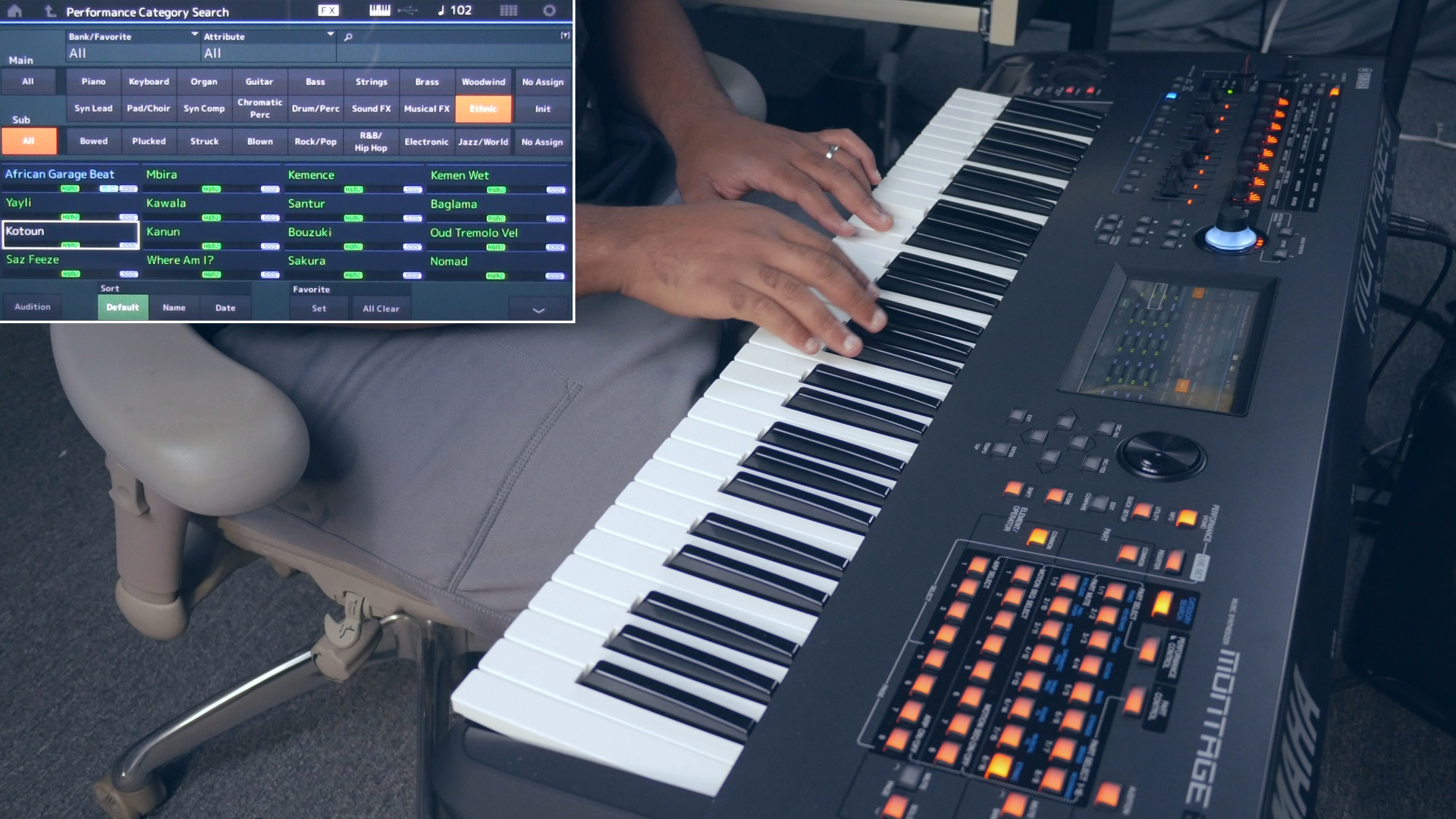Yamaha Montage 6 - Ethnic Sound Demo