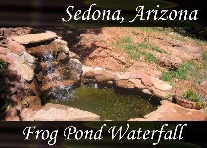 SoundScenes - Atmo-AZ-Sedona - Frog Pond Waterfall 040