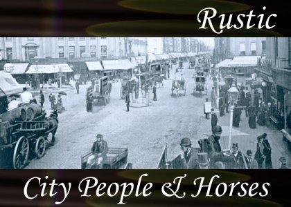 City People and Horses 1:40