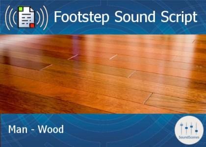 footstep script - man - wood